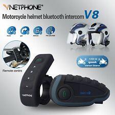 1200M BT Interphone GPS Bluetooth Motorcycle Helmet Intercom Headset 6 Riders