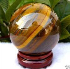 AAA 60mm Natural Tiger's Eye quartz crystal sphere ball