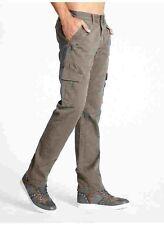 Guess Slim Cargo Twill Pants Light Beige Size 36