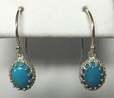 NUOVO, Argento Sterling ORIGINALE Turchese orecchini pendenti