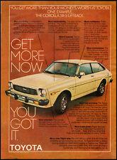 1978 Vintage ad for TOYOTA/Corolla SR-5 Liftback/yellow (120112)