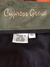 Mens Cypress Grove Linen/Silk Shorts Size 32