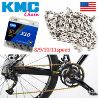 KMC 8/9/10/11s Gold/Silver Chain MTB Bike Hollow X/EL Chains Cassette Sprocket