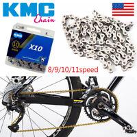 KMC 8/9/10/11s Gold/Silver Chain MTB Bike Hollow X/EL Chains Cassette Sprocket