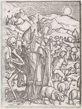 Hans Holbein's Dance of Death 1525 The Bishop 7x5 Inch Print