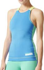 adidas StellaSport Womens Running Vest Tank Top - Blue
