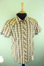 VTG Wrangler Checked Western Cowboy Embroidered Pearl Snap Fastener Shirt XL