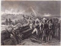 Gravure La bataille du Fort du Trocadéro Cadix Espagne Duc d'Angoûlème 1858