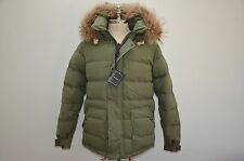 Nigel Cabourn Authentic Made in England Down Filled Fur Hooded Puffa Jacket 48 M