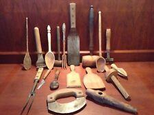 Primitive 17 piece Assorted Wooden Kitchen Utensils