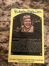 Brooks Robinson Baltimore Orioles signed autographed baseball card HOF plaque