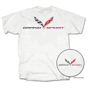 C7 Corvette Grand Sport White Cotton T-Shirt
