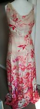 Gorgeous Monsoon Maxi Dress 100% Silk Floral Size 18 Long Multicoloured