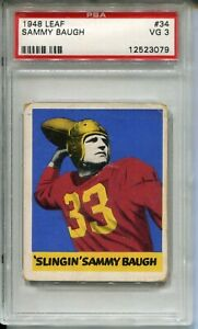 1948 Leaf Football #34 Sammy Baugh Rookie Card RC Graded PSA 3 '48 Redskins