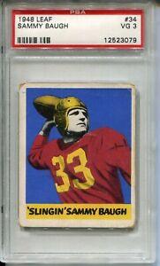 1948 Leaf Football #34 Sammy Baugh Rookie Card RC Graded PSA 3 '48 Redskins