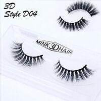 Real 3D Mink Soft Long Natural Makeup Eye Lashes Thick False Eyelash 16 Style