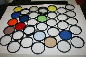 Job Lot of 35 49mm Photographic Effect Filters Assorted Brands Hoya, Photax, etc