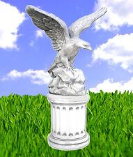 Adler Steinfigur 105cm + Sockel Vogel Statue Skulptur Tierfiguren BLACKFORM