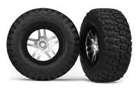 Traxxas 5877 BFGoodrich Mud TA Front Tire (2) (Satin Chrome) (Standard)