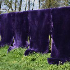 Peau de mouton violet tondu 80-90 cm Couvre-siège Décoratif Tapis d'entrée