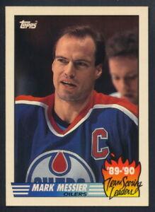1990-91 Topps Hockey Team Scoring Leaders #16 Mark Messier (Edmonton)
