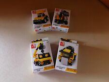 Lot of 4 Assorted Builder Toy Set Packs Boy's Kits Construction Trucks Hobby#592