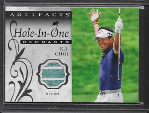 2021 Upper Deck Artifacts K.J. Choi Hole In One Remnants Worn Shirt Relic Card