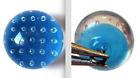 Antique Vintage Button Blue Glass Bullicante Paperweight Ball Button