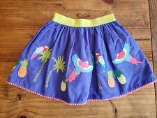 MINI BODEN 2T Skirt Tropical Birds Parrots Purple Multi