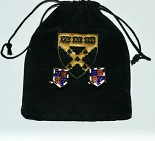 Harvard Business School VERITAS  emblem cufflinks with orig. pouch