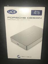 LaCie Porsche Design Mobile Drive 4TB - USB-C & USB 3.0 - External Hard Drive