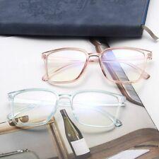 Moda Cuadrado Marco de Gafas Mujer Hombre Vintage Transparente Leopardo Lente PC