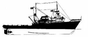 Bauplan Zwarte Zee 1962 Modellbauplan Schlepper Schiffsmodell