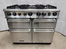 Falcon Deluxe 100 cm Dual Fuel/LPG Range Cooker, Stainless Steel