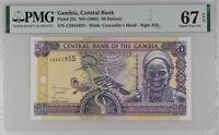 Gambia 50 Dalasis ND 2005 P 23 c Sign 15 Superb Gem UNC PMG 67 EPQ