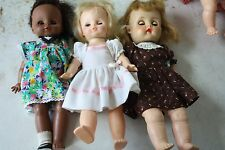 3pc Horsman Dolls African American 1967 Pull Cord Talking