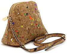 Amy&Joey Cork Material Easy Carrying CrossBody Bag