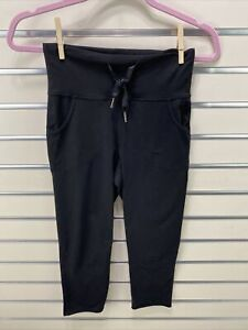 Lululemon Black High Drawstring Waist Capri Leggings W/ Pockets Size 4