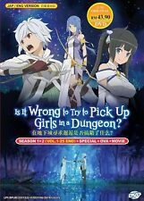 DVD DanMachi Is it Wrong to Try Pick Up Girls in a Dungeon? Season 1 & 2 Anime