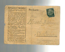 1940 Germany postcard Cover Mauthausen Concentration Camp KZ Hildegard Miech