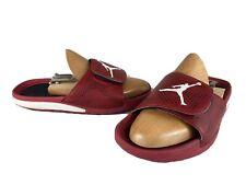 Boys NIKE JORDAN HYDRO 5 Gym Red White Black Slide Sandals SIZE 6Y