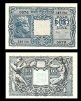 Italy Kingdom 10 Lire 1944 XF / aUNC  Condition Banknote Jupiter P #32a
