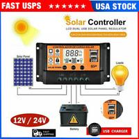 10/100A MPPT Solar Panel Regulator Charge Controller Auto Focus Tracking 12V/24V