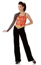 Heat Wave Dance Costume Flame Fire Jumpsuit Lion King Clearance Child X-Small