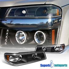 2004-2012 Chevy Colorado GMC Cayon Black Corner Lights Bumper Signal Lamps Pair