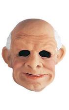Old Man Overhead Latex Mask Face Halloween Costume Wrinkled Skin Bald Head Adult