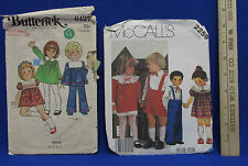 Vintage Girl Dress Butterick & McCalls Sewing Patterns Size 1/2 - 1 Toddler