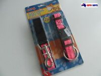 Trendy Pet Adjustable Dog Stop Pulling Training Strap Collar & Leash Set - PINK