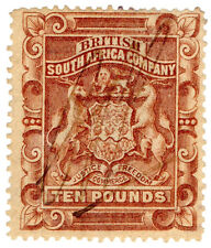(I.B) Rhodesia/BSAC Revenue : Duty Stamp £10
