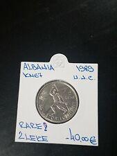 More details for albania 2 leke 1989 rare